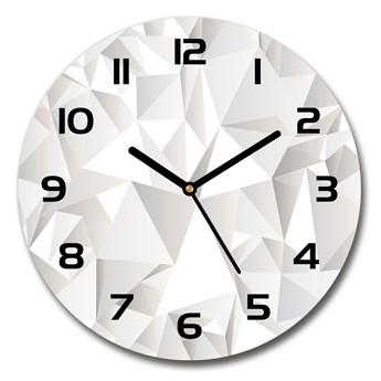 Zegar szklany okrągły Abstrakcyjne tło