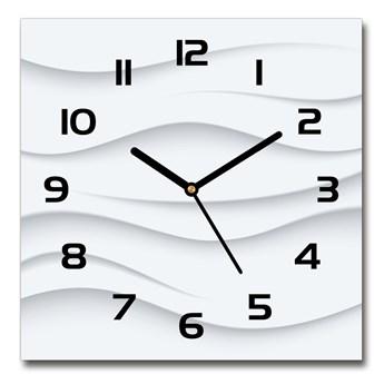 Zegar szklany kwadratowy Abstrakcja fale