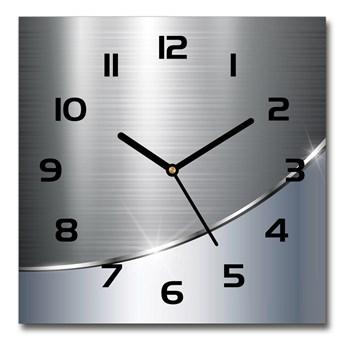 Zegar szklany kwadratowy Metalowa abstrakcja
