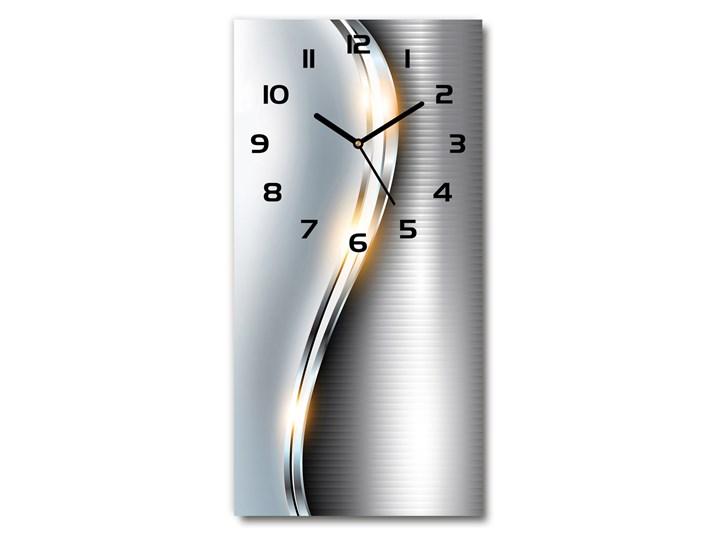 Zegar ścienny Metalowa abstrakcja Tworzywo sztuczne Kolor Szary Zegar stołowy Budzik Prostokątny Styl Nowoczesny