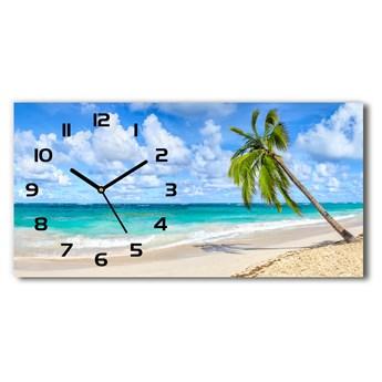 Zegar ścienny szklany Tropikalna plaża