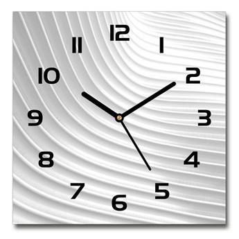 Zegar szklany kwadratowy Abstrakcja linie