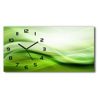 Zegar ścienny szklany Zielone fale tło