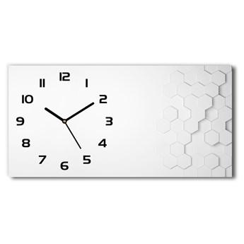 Zegar ścienny szklany Sześciokąty tło