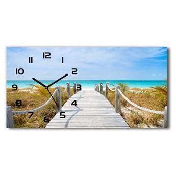 Zegar ścienny szklany Ścieżka nad morzem