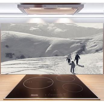 Panel między meble w kuchni Narciarze