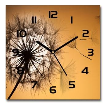 Zegar szklany kwadratowy Dmuchawiec