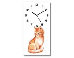 Nowoczesny zegar ścienny Rudy kot