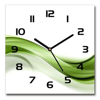 Zegar szklany na ścianę Zielona fala