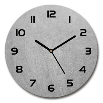 Zegar szklany na ścianę Szara ściana
