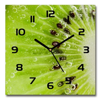 Zegar ścienny szklany kwadratowy Kiwi
