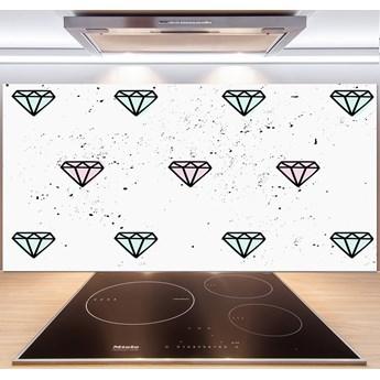 Panel między meble w kuchni Diamenty