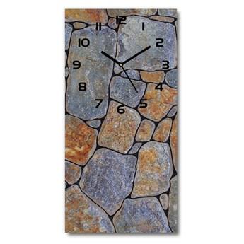 Zegar szklany ścienny Kamienie tło