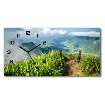 Zegar ścienny szklany Szlak na szczycie