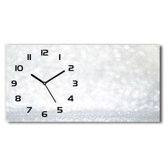 Nowoczesny zegar ścienny szklany Świecidełka