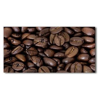 Nowoczesny zegar ścienny szklany Ziarna kawy