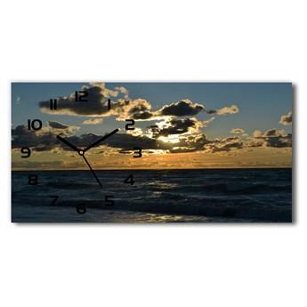 Zegar ścienny szklany Zachód nad morzem