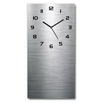 Zegar szklany ścienny Metalowe tło
