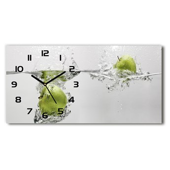 Zegar ścienny szklany Jabłko pod wodą