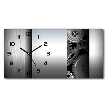 Zegar ścienny szklany Zębatki abstrakcja