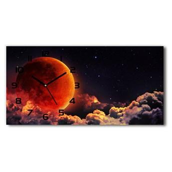 Zegar ścienny szklany Zaćmienie księżyca