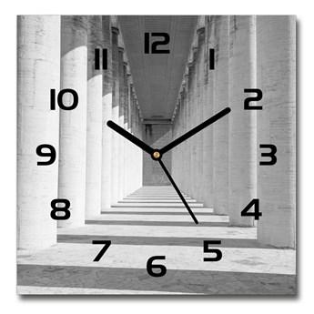 Zegar ścienny szklany kwadratowy Korytarz