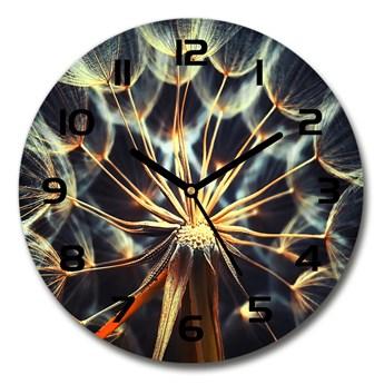 Zegar szklany okrągły Dmuchawce