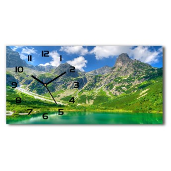 Zegar ścienny szklany Jezioro w górach