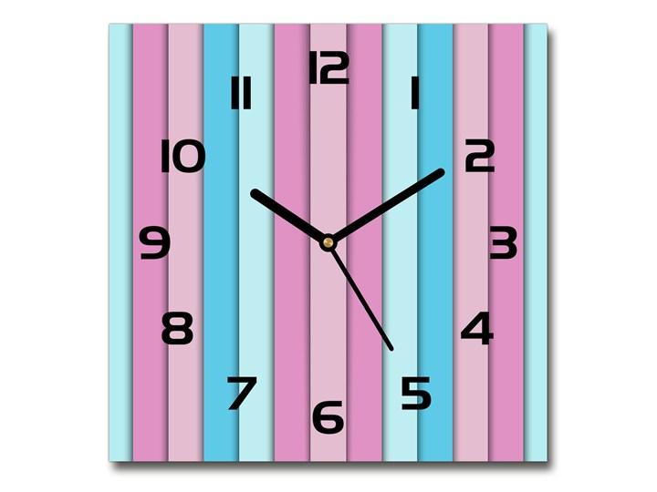 Zegar szklany na ścianę Kolorowe paski