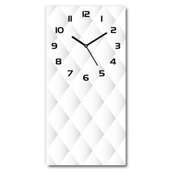 Zegar szklany ścienny Kwadraty tło