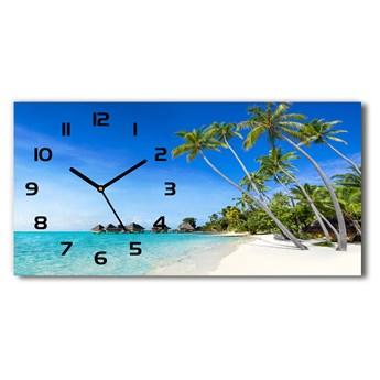 Nowoczesny zegar ścienny szklany Malediwy