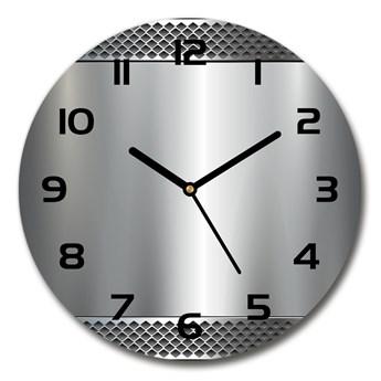 Zegar szklany okrągły Metalowe tło