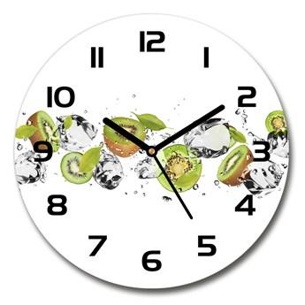 Zegar szklany na ścianę Kiwi i woda
