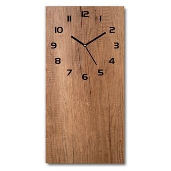 Zegar szklany ścienny Drewniane tło
