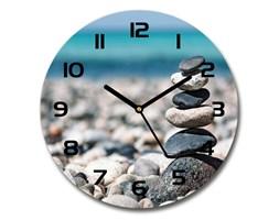 Zegar szklany okrągły Stos kamieni