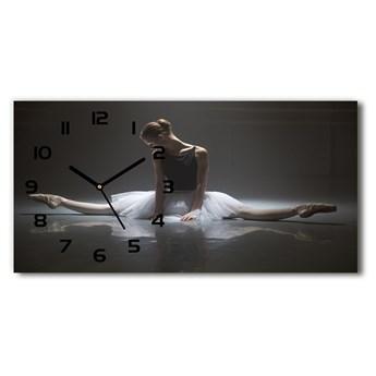 Nowoczesny zegar ścienny szklany Baletnica