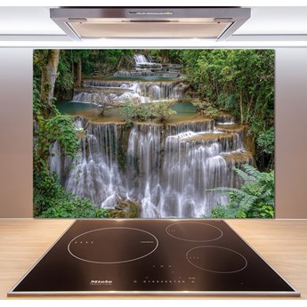 Panel do kuchni Wodospad w lesie