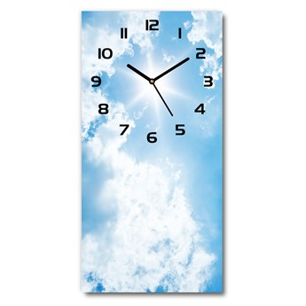 Zegar ścienny cichy Chmury na niebie
