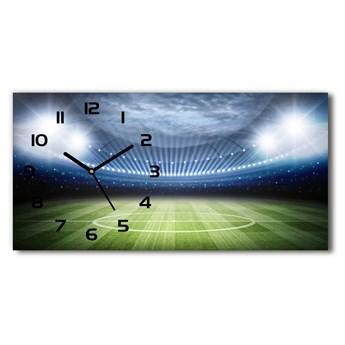 Nowoczesny zegar ścienny szklany Stadion