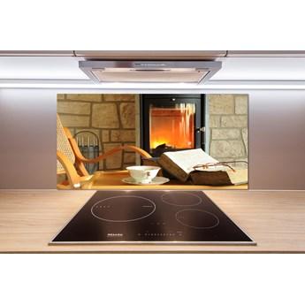 Panel szklany do kuchni Kominek