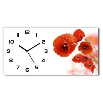 Nowoczesny zegar ścienny szklany Maki