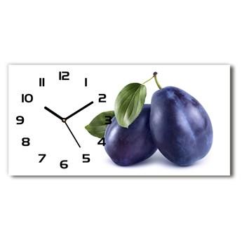 Nowoczesny zegar ścienny szklany Śliwki