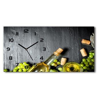 Zegar ścienny szklany Białe wino i owoce