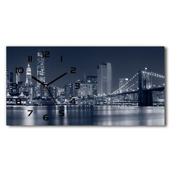 Zegar ścienny szklany Manhattan Nowy Jork