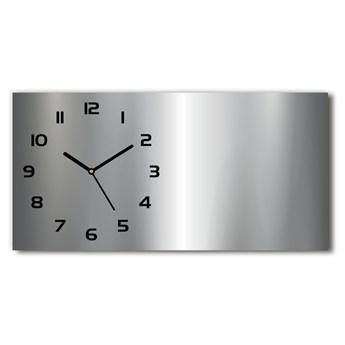Zegar ścienny szklany cichy Metalowe tło
