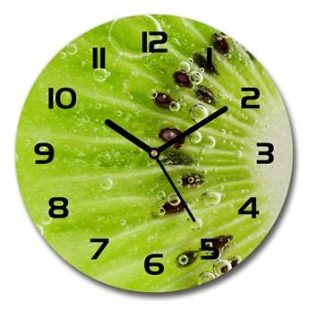 Zegar ścienny szklany okrągły Kiwi