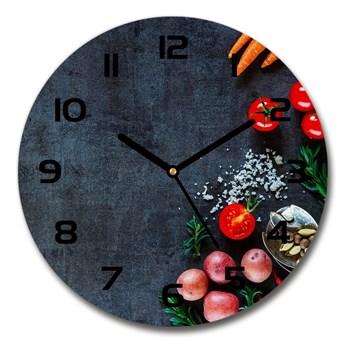 Zegar szklany na ścianę Składniki