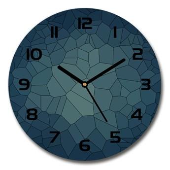 Zegar szklany okrągły Abstrakcja tło