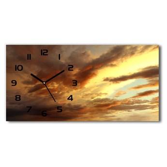 Zegar ścienny szklany cichy Wschód słońca