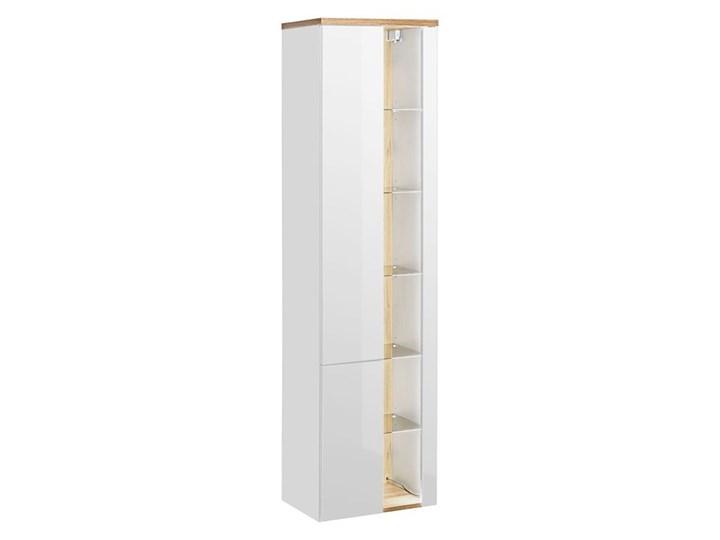 Komplet mebli łazienkowych Monako 4Q 80 cm - Biały połysk Kategoria Zestawy mebli łazienkowych Kolor Beżowy